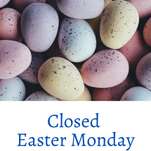 Closed Easter Monday